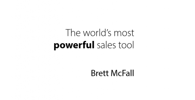 The world's most powerful sales tool
